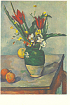 Flowers and Fruit Paul Cezanne Postcard p21146