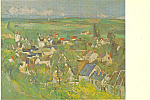 Auvers Village Panorama Paul Cezanne Postcard p21148