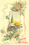 Click here to enlarge image and see more about item p21157: Christmas Greetings Postcard p21157