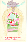 Click here to enlarge image and see more about item p21158: A Merry Christmas Novelty card