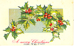 A Merry Christmas Postcard p21172