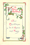 A Merry Christmas Postcard p21179