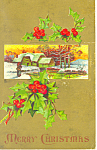 Merry Christmas Postcard p21187