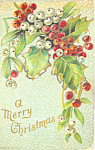 A Merry Christmas Postcard p21188