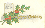 Merry Christmas Postcard p21191