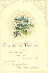 Christmas Wishes Postcard p21196