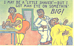 Click here to enlarge image and see more about item p21210: I may be a little shaver-