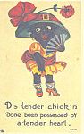 Click here to enlarge image and see more about item p21216: Dis tender chick n Comical Postcard p21216