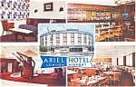 Click here to enlarge image and see more about item p2126: Ariel Hotel London England Airport Postcard p2126
