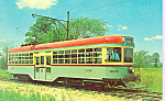 Click here to enlarge image and see more about item p21337: Car 1218 Cleveland Railway Center Door Trolley p21337