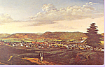 Painting of Corning New York Postcard p21498