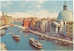 Venice Italy Bridge of the Scalzi  Postcard
