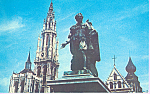 Click here to enlarge image and see more about item p21522: Rubens Monument and Cathedral, Antwerp, Belgium