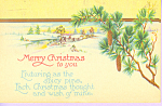 Merry Christmas to You Postcard p21533