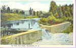 The Dam Ray Brook Adirondacks NY Postcard p21576