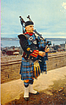 Highland Piper in Nova Scotia Tartan