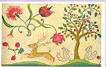 Click here to enlarge image and see more about item p21797: Crewelwork Deer and Squarrel