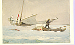 Stowing Sail Bahamas Winslow Homer Postcard p21802