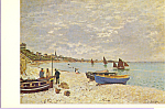 Beach at Ste Adresse Claude Monet Postcard p21804