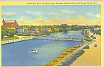 Click here to enlarge image and see more about item p21870: Wesley Lake, Asbury Park and Ocean Grove New Jersey