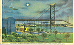 Click here to enlarge image and see more about item p21961: Ambassador Bridge Linking Detroit MI and Windsor ONT p21961