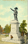 Click here to enlarge image and see more about item p21989: Champlain Monument St John New Brunswick Canada p21989