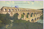 Click here to enlarge image and see more about item p21998: Le Pont du Gard entre Avignon et Nimes France p21998