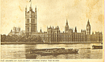 Click here to enlarge image and see more about item p22003: Houses Of Parliment London From the River