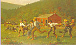 Snap the Whip Winslow Homer Postcard p22027