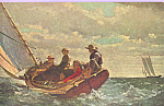Breezing Up Winslow Homer Postcard p22060