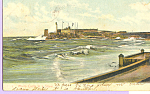 Click here to enlarge image and see more about item p22119: Morro Castle in a Storm Cuba Postcard p22119