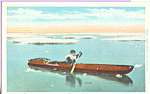 Click here to enlarge image and see more about item p22144: Eskimo and Kayak Postcard p22144