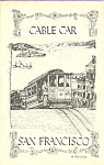 Click here to enlarge image and see more about item p22162: Sketch of a Cable Car San Francisco CA p22162