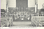 Interior of Chapel, Camp Butner, North Caroina