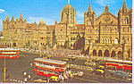 Click here to enlarge image and see more about item p22178: Chhatrapaii Shivaji Maharaj Terminus Mumbai India p22178