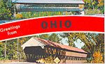 Click here to enlarge image and see more about item p22234: Two Covered Bridges in Ohio Postcard p22234
