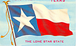 Texas State Flag Postcard p22336