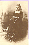 Little Girl with 3 Wheel carriage of Joel Ellis Type Postcard p22418