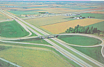 Click here to enlarge image and see more about item p22496: Interchange 5 Ohio Turnpike Postcard p22496