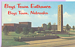 Click here to enlarge image and see more about item p22550: Boy s Town Entrance Boy s Town Nebraska p22550