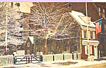 Click here to enlarge image and see more about item p22615: Betsy Ross House in Winter