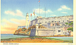 Click here to enlarge image and see more about item p22646: Morro Castle Havana Cuba Postcard p22646