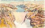 Click here to enlarge image and see more about item p2266: Boulder Dam and Fortification NV Postcard p2266