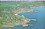 Air View of Rockland Maine Postcard p22682