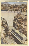 Boulder Dam AZ Wing Powerhouse Postcard