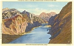 Click here to enlarge image and see more about item p2271: Boulder Dam and Colorado River Postcard p2271