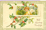 Click here to enlarge image and see more about item p22890: With Christmas Greetings Postcard p22890