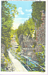 Click here to enlarge image and see more about item p22933: Path to Hydes Cave, Ausable Chasm, New York