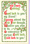 Click here to enlarge image and see more about item p22947: New Year's Greeting