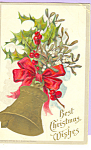 Click here to enlarge image and see more about item p22948: Best Christmas Wishes Postcard p22948
